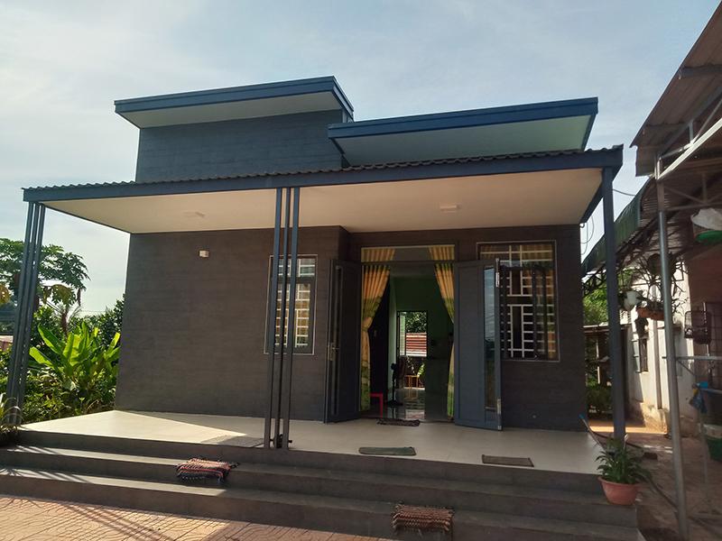 Thiết kế nhà cấp 4 3 phòng ngủ với mái bằng 5×20