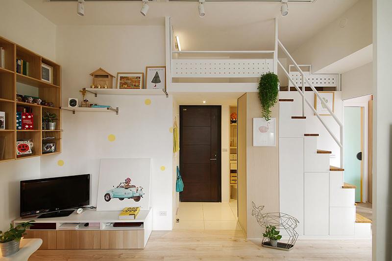 Nhà gác lửng nhỏ đẹp 2 phòng ngủ - Không gian ấm cúng cho gia đình nhỏ