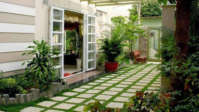 Mẫu thiết kế sân vườn đẹp theo phong cách hiện đại