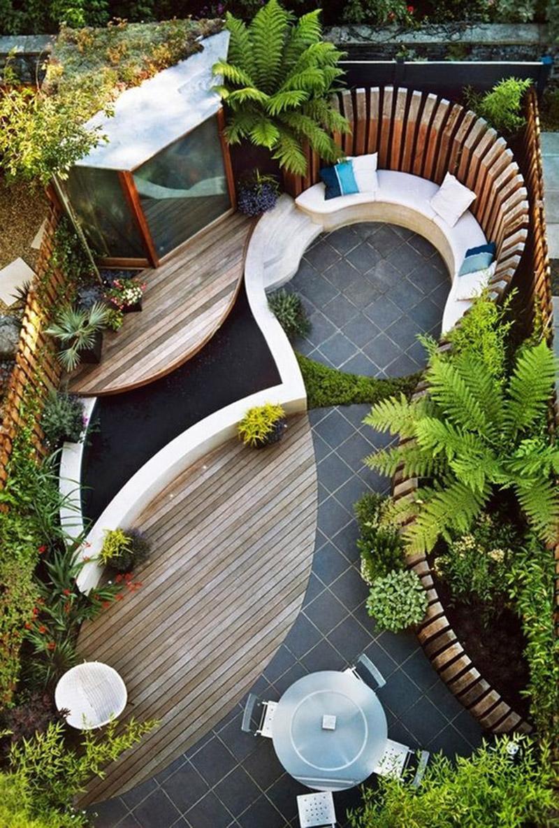 Mẫu thiết kế sân vườn đẹp theo phong cách Phương Tây