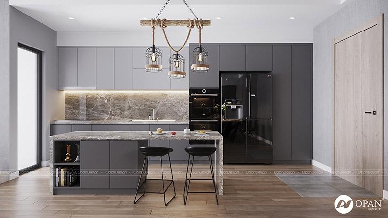 Thiết kế nội thất căn hộ phòng bếp