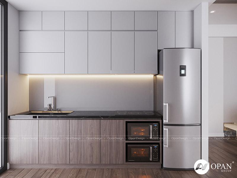 Thiết kế nội thất căn hộ tại phòng bếp