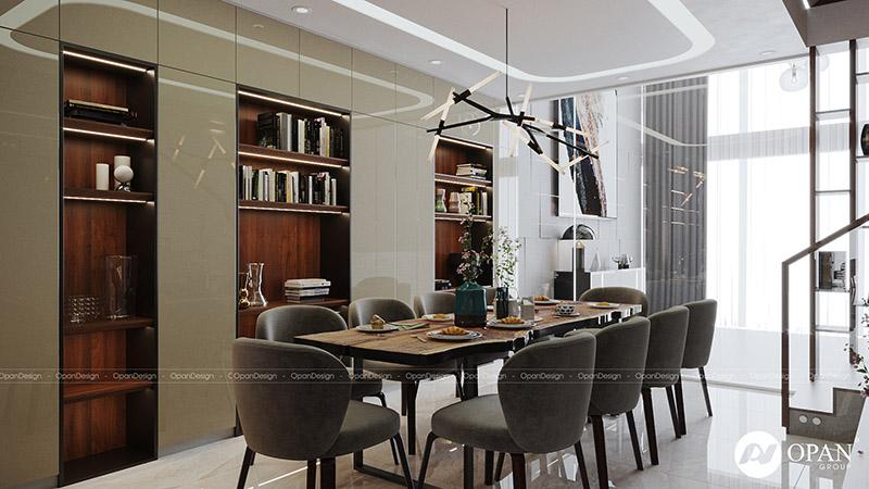 Thiết kế nội thất căn hộ anh Trung Viên phòng bếp