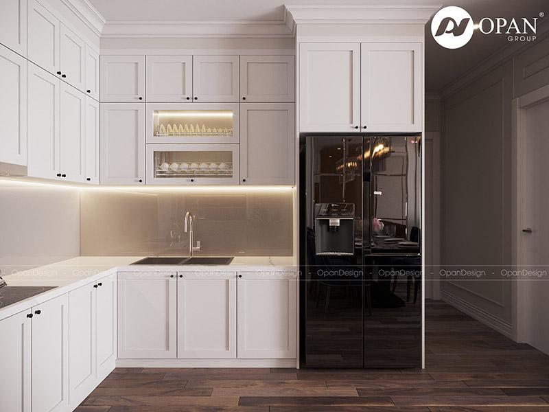 Thiết kế nội thất căn hộ chị Ngọc Kiều hạng mục phòng bếp