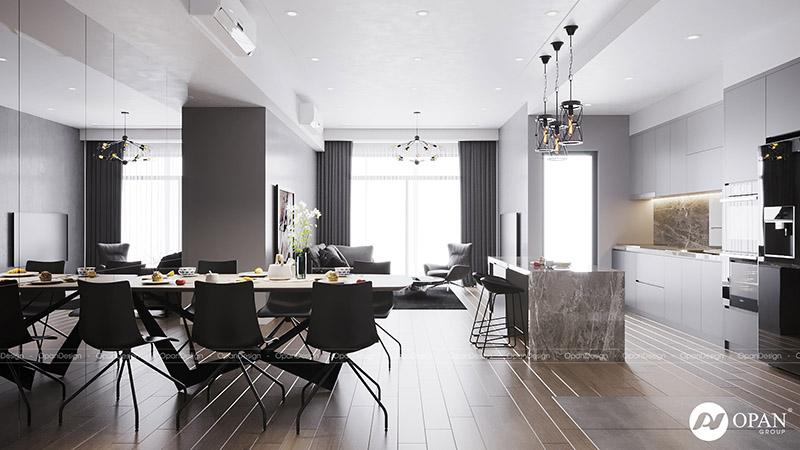Thiết kế nội thất căn hộ cho phòng khách