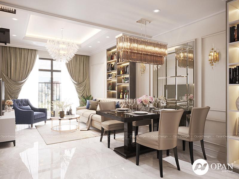 Thiết kế nội thất căn hộanh Hùng