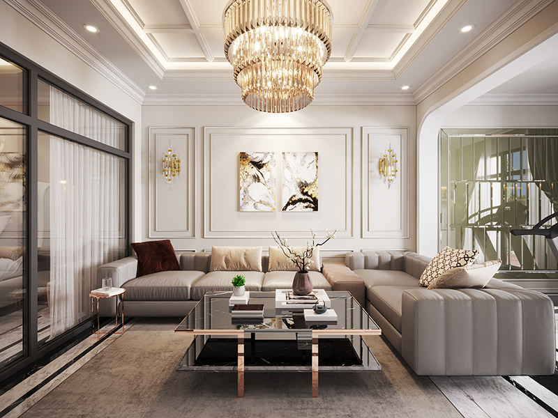 Thiết kế nội thất căn hộanh Nam Phương