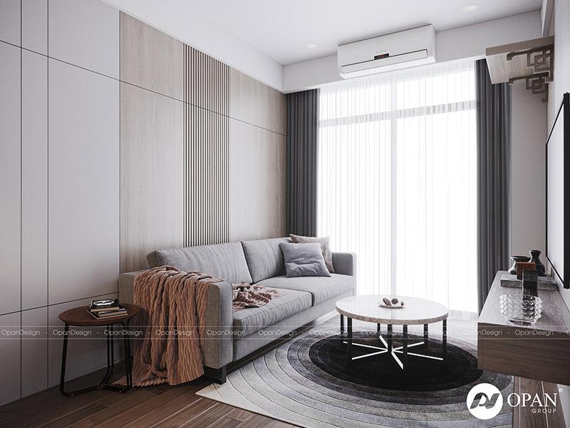 Thiết kế nội thất căn hộ anh Phú tại phòng khách