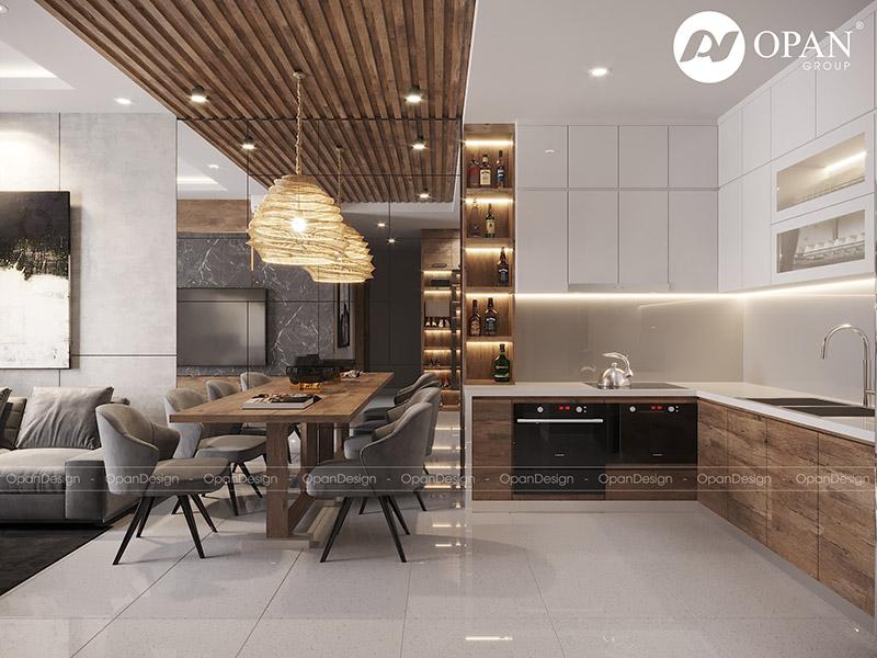 Thiết kế nội thất căn hộ chị Dung