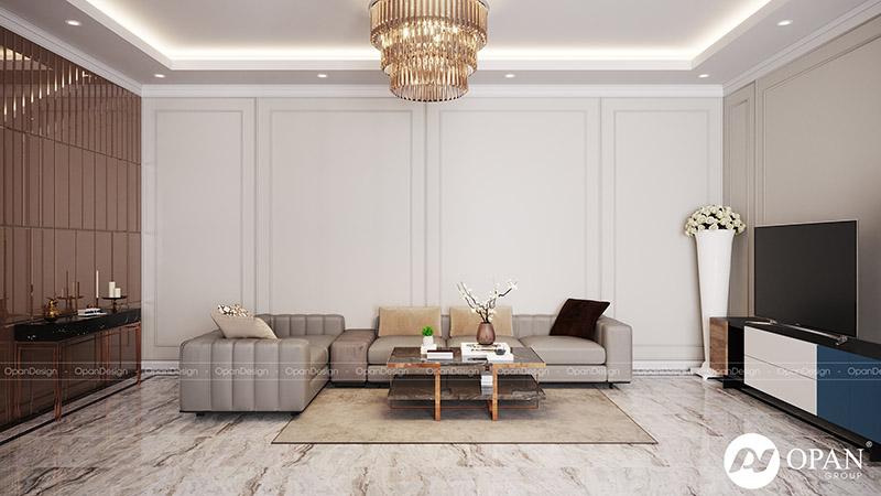 Thiết kế nội thất nhà phố chú Dương hạng mục phòng khách