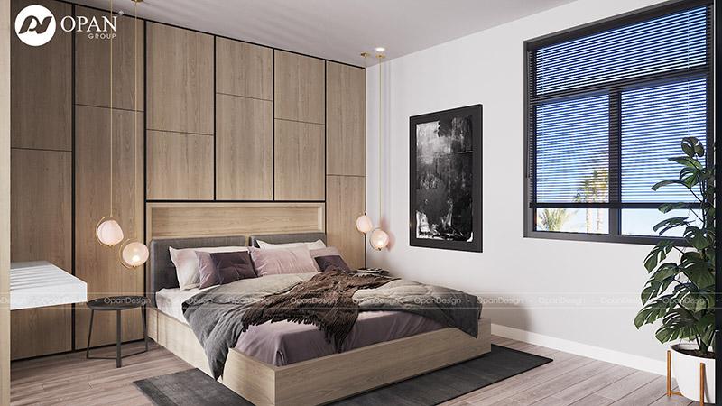 Thiết kế nội thất biệt thự Shang Long hạng mục phòng ngủ