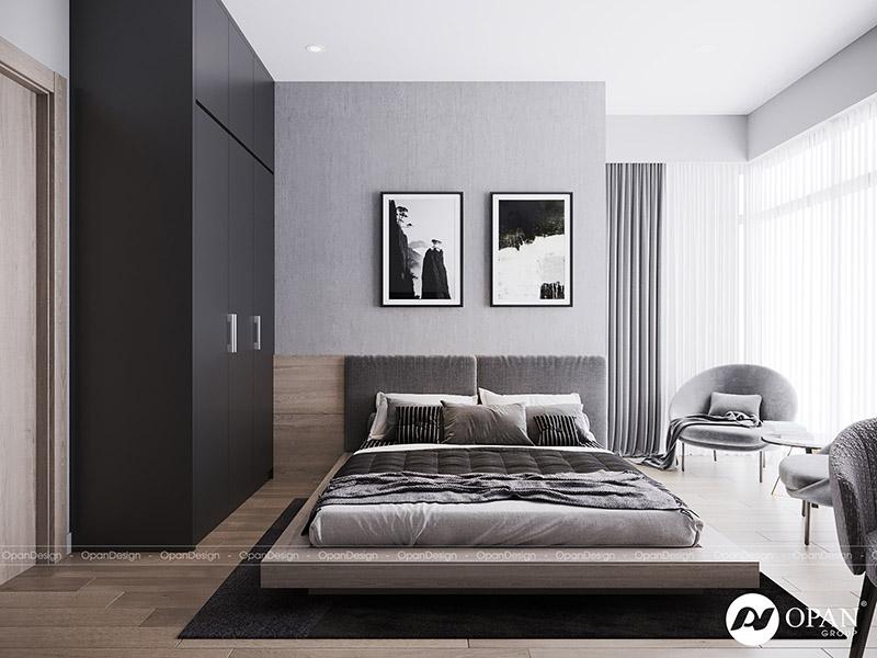 Thiết kế nội thất căn hộ phòng ngủ