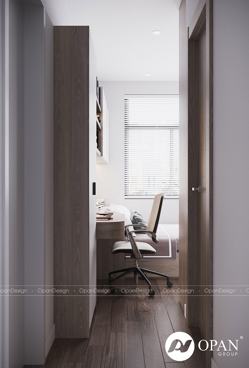 Thiết kế nội thất căn hộ anh Phú tại phòng ngủ