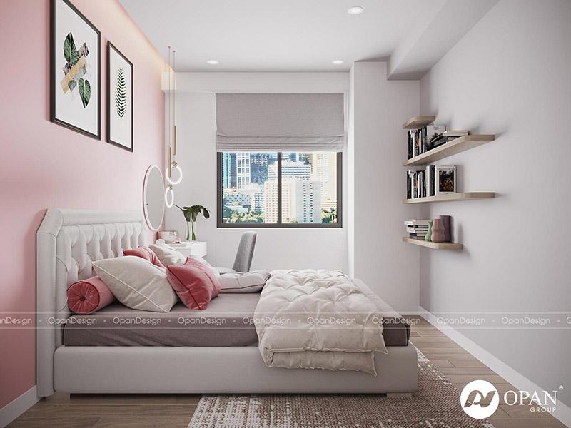 Thiết kế nội thất căn hộ chị Hoa