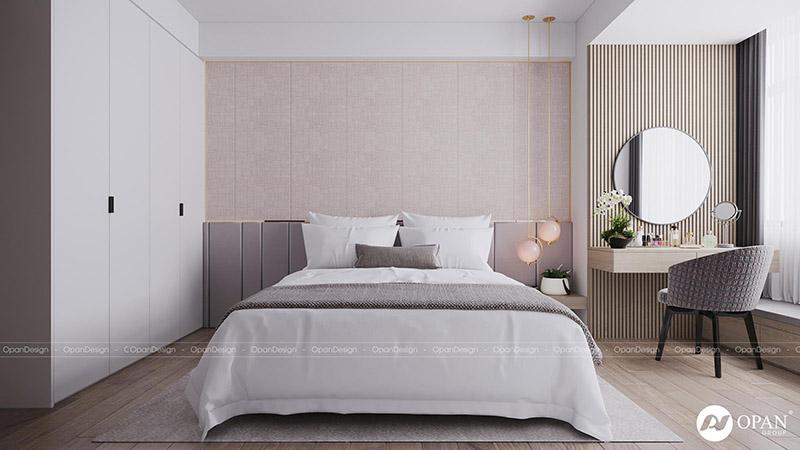 Thiết kế nội thất căn hộ chị Hoa hạng mục phòng ngủ