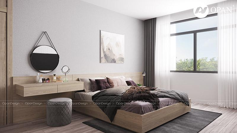 Thiết kế nội thất nhà phố anh Minh hạng mục phòng ngủ