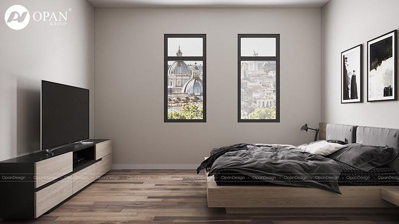 Thiết kế nội thất nhà phố chú Dương hạng mục phòng ngủ