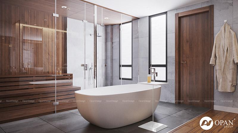 Thiết kế nội thất căn hộ phòng tắm
