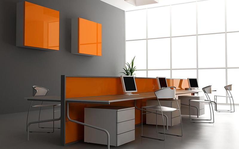 Phong cách thiết kế nội thất văn phòng đa sắc màu hoặc kết hợp nhiều hình khối