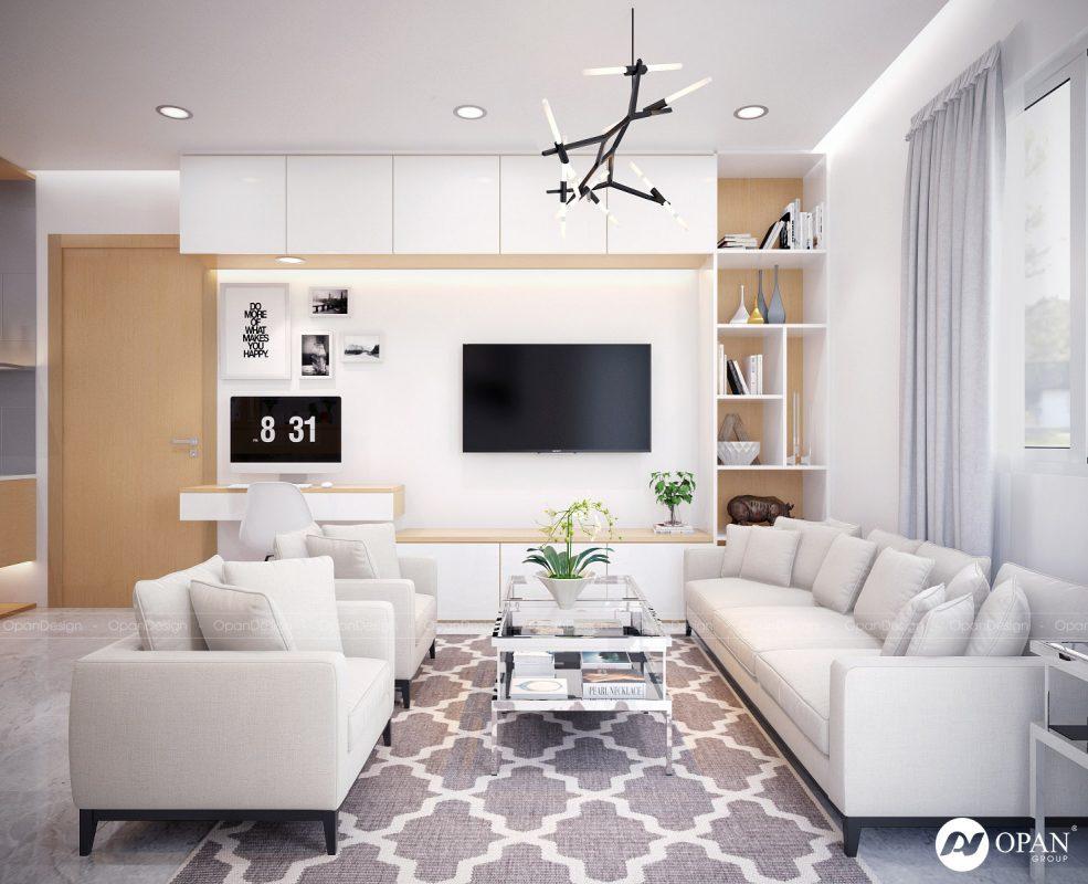 Opan Việt Nam thiết kế phòng khách biệt thự