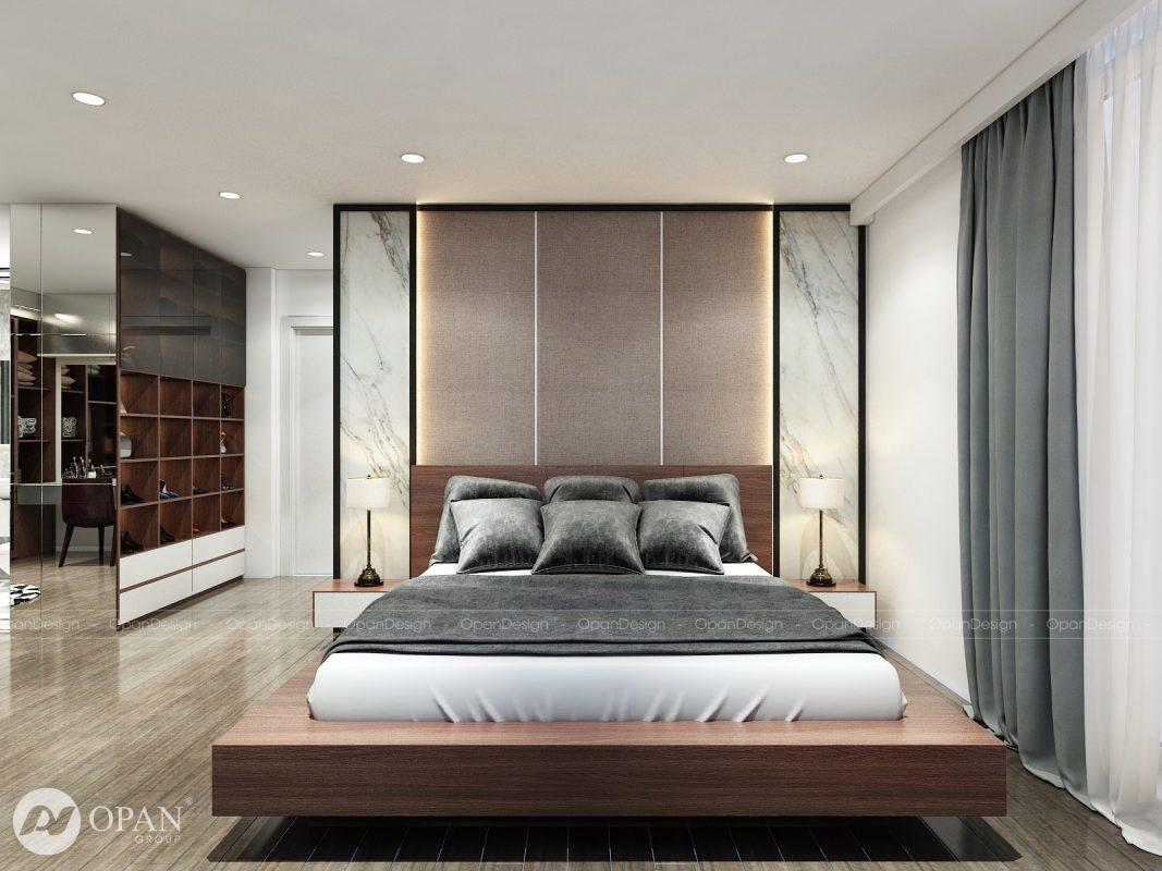 Phòng ngủ 14m2 theo phong cách Luxury cực sang trọng