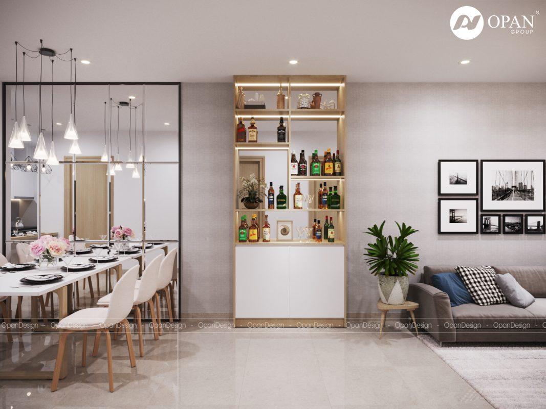 Thiết kế giá treo đồ cho nội thất nhà bếp trong căn hộ