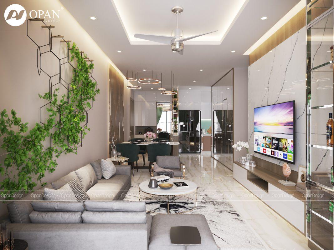 Thiết kế phòng khách biệt thự nổi bật