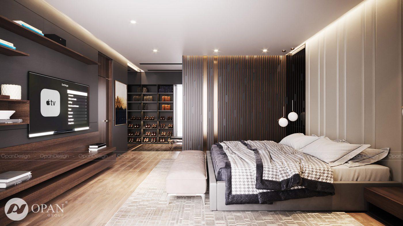 Tiêu chuẩn thiết kế nội thất biệt thự phòng ngủ master