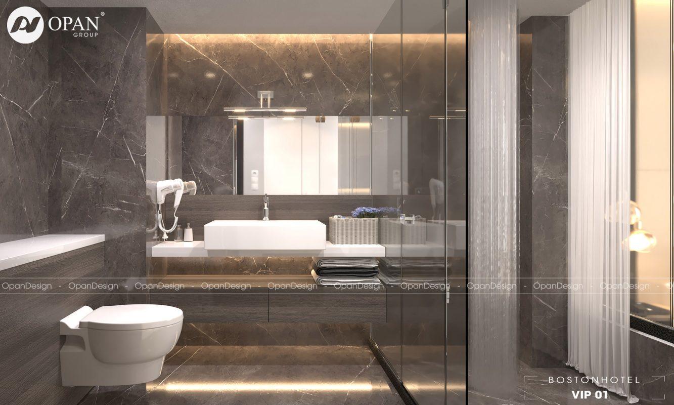 Thiết kế phòng tắm và wc của biệt thự
