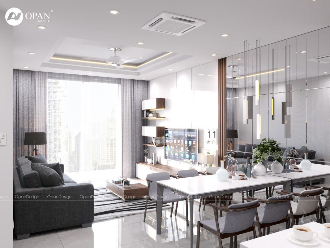 Thiết kế nội thất nhà bếp với tông màu be