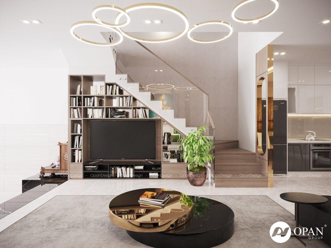 Mẫu thiết kế phòng khách nhà ống 4m