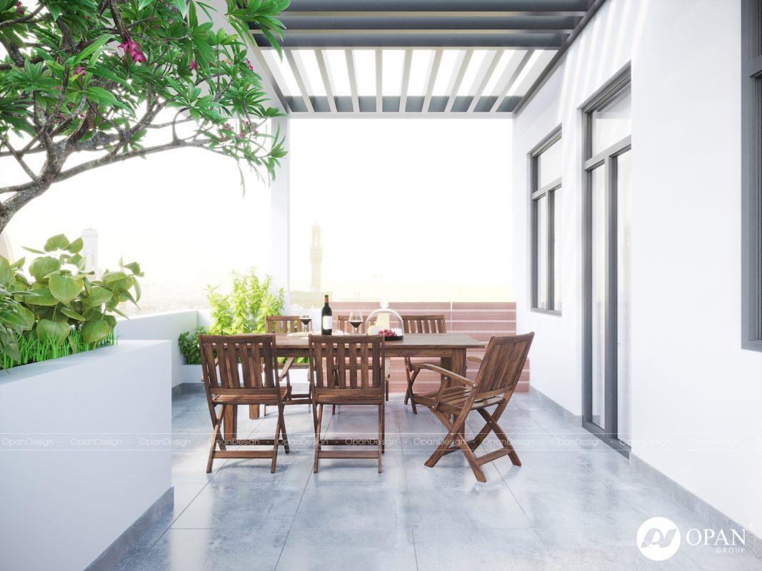 Opan Việt Nam thiết kế sảnh biệt thự