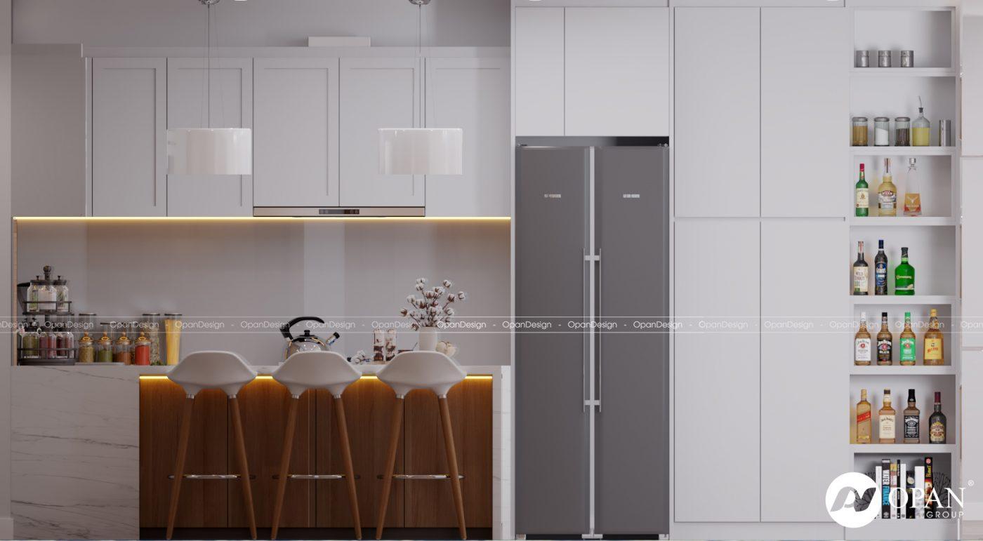 Mẫu phòng bếp đơn giản cho thiết kế nội thất chung cưMẫu phòng bếp đơn giản cho thiết kế nội thất chung cư