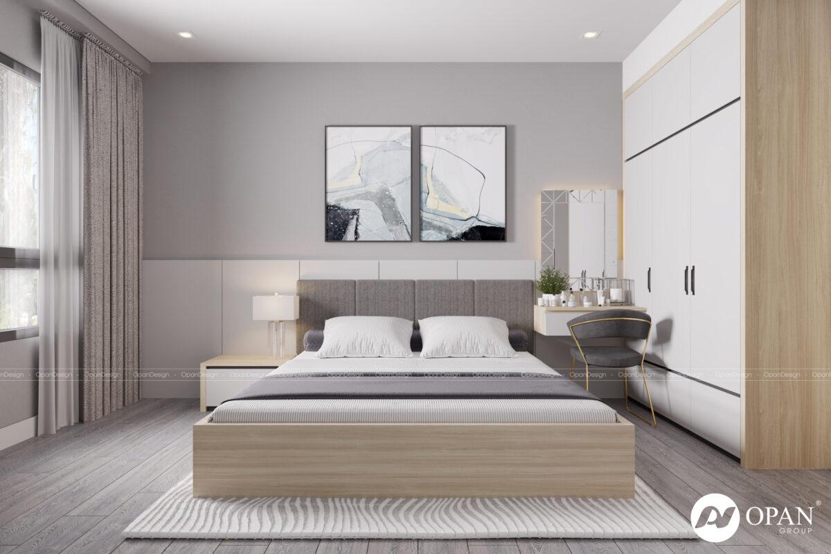 Thiết kế nội thất phòng ngủ căn hộ anh Nhiệm